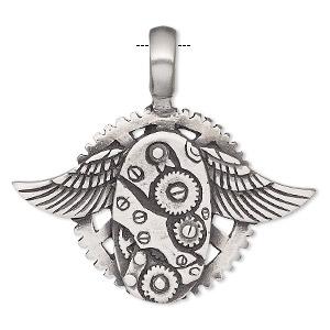 Pewter pendants fire mountain gems and beads 1 pendant pkg aloadofball Images