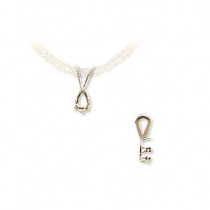 pendant, snap-tite, 14kt gold, 5x3mm 6-prong pear setting sold individually.