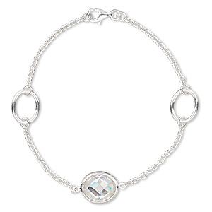 Other Bracelet Styles Sterling Silver Clear