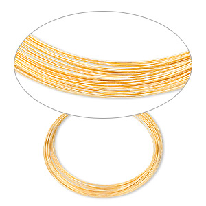 Wire-Wrapping Wire Gold Plated/Finished Gold Colored