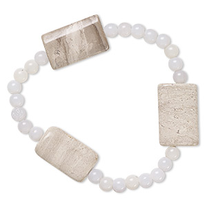 Stretch Bracelets Acrylic Greys