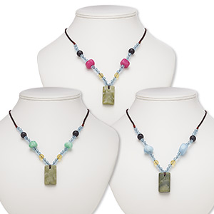 Necklace components Grade C Mixed Gemstones