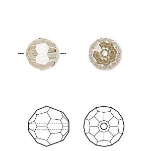 Bead, Swarovski® Crystals, Ceylon Topaz, 10mm Faceted Round (5000). Sold Per Pkg 2 5000