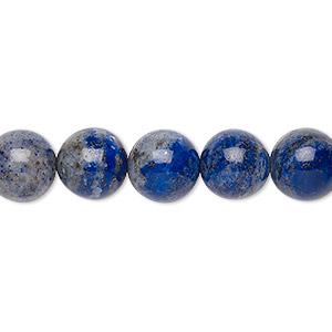 Bead, Lapis Lazuli (natural), 10-11mm Round, C Grade, Mohs Hardness 5 6. Sold Per 15-inch Strand