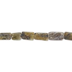 Bead, Labradorite (natural), 7x4mm-12x6mm Hand-cut Flat Rectangle, F Grade, Mohs Hardness 6 6-1/2. Sold Per 13-inch Strand