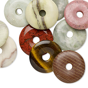 Donuts Mixed Gemstones Multi-colored
