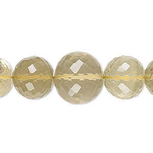 Beads Grade B Lemon Smoky Quartz