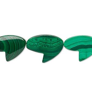 Bead, Malachite (natural), 18x14mm-19x15mm Freeform, B Grade, Mohs Hardness 3-1/2 4. Sold Per 8-inch Strand