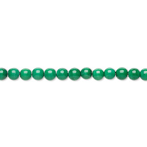 Bead, Malachite (natural), 3-4mm Round, C Grade, Mohs Hardness 3-1/2 4. Sold Per 15-inch Strand