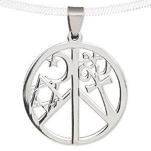 Pendant stainless steel 36mm round coexist sold individually pendant stainless steel 36mm round coexist sold individually aloadofball Gallery