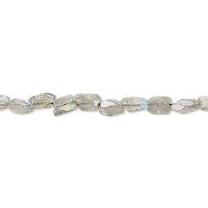 Bead, Labradorite (natural), 6x3mm-7x4mm Hand-cut Faceted Rectangle, C Grade, Mohs Hardness 6 6-1/2. Sold Per 13-inch Strand