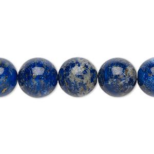 Bead, Lapis Lazuli (natural), 11-12mm Round, C Grade, Mohs Hardness 5 6. Sold Per 8-inch Strand