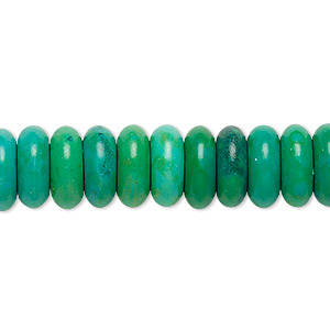 Bead, Magnesite (dyed / Stabilized), Kelly Green, 12x5mm Rondelle, C Grade, Mohs Hardness 3-1/2 4. Sold Per 15-inch Strand