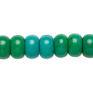 Bead, Magnesite (dyed / Stabilized), Kelly Green, 12x7mm Rondelle, C- Grade, Mohs Hardness 3-1/2 4. Sold Per 15-inch Strand