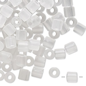 Bead, vintage German acrylic, frosted clear, 6x6mm round