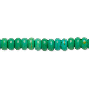 Bead, Magnesite (dyed / Stabilized), Kelly Green, 6x3mm-6x4mm Rondelle, C Grade, Mohs Hardness 3-1/2 4. Sold Per 15-inch Strand