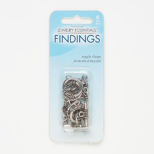 "Clasp, Toggle, Antique Silver-finished ""pewter"" (zinc-based Alloy), 17mm Round Scroll Design. Sold Per Pkg 6 JC11599-101"