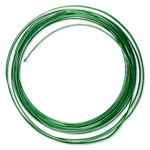 Wire, Anodized Aluminum, Spring Green, 4mm Flat, 16 Gauge. Sold Per Pkg 20 Feet
