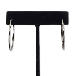 Hoop Earrings Brass and Brass-Plated Blacks