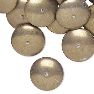 Beads Porcelain / Ceramic Gold Colored