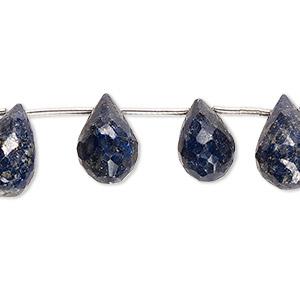 Lapis lazuli Stress Stones Drilled Oval Shape Lens Shape AA Cut Decoration Healing Stones Blue Tones Pendant with Hole