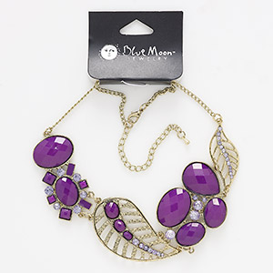 Other Necklace Styles Acrylic Purples / Lavenders