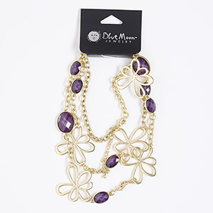 Other Necklace Styles Gold Plated/Finished Purples / Lavenders