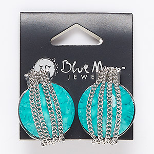 Earstud Earrings Acrylic Blues