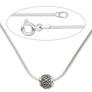 Other Necklace Styles Marcasite Silver Colored