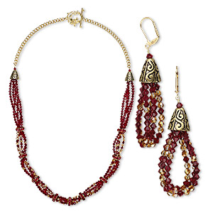 Jewelry Sets Crystal Reds