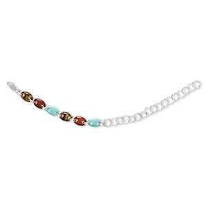 Bracelets Mixed Gemstones Multi-colored