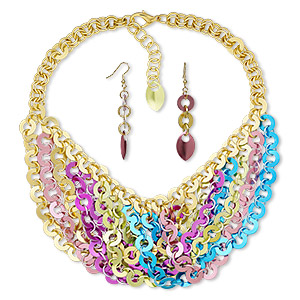 Jewelry Sets Gold Plated/Finished Multi-colored