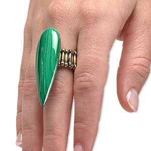 Finger Rings Malachite Greens