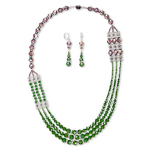Jewelry Sets Crystal Greens