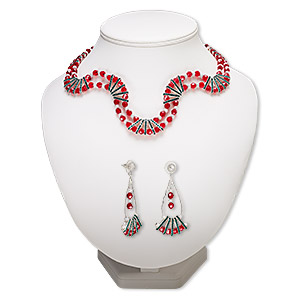 Jewelry Sets Glass Reds