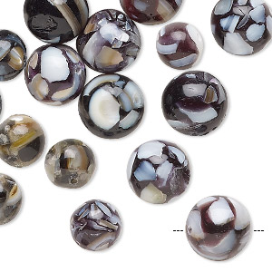 Beads Mother-Of-Pearl Blacks