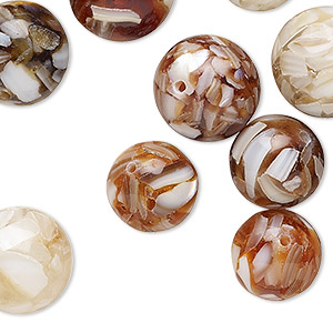 Beads Mother-Of-Pearl Browns / Tans