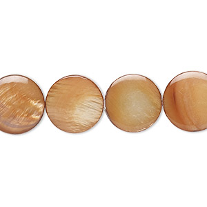 Beads Mother-Of-Pearl Copper Colored