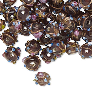 Beads Lampwork Glass Purples / Lavenders