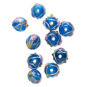 Beads Lampwork Glass Blues
