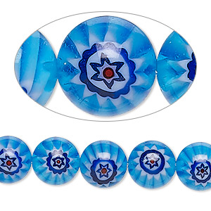 Beads Millefiori Blues