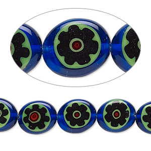 Beads Millefiori Multi-colored