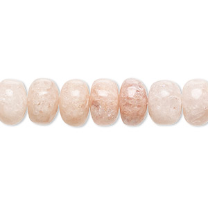 RB172 100/% Top Quality Natural 10 Feet Chain Silver Plated Peach Moonstone 4 mm Rondelle /& Faceted with Good looking