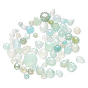 5 Matched Pair Smooth Polished Heart shape Briolletes DRILLED 24x24 mm So Gorgeous AQUA Color CHALCEDONY