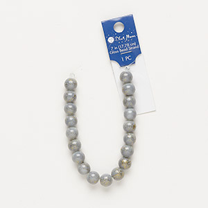 Beads Glass Greys