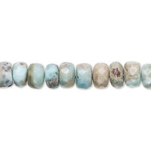 Natural Larimar Faceted Rondelle Beads Larimar Beads 13 Inches Faceted Beads Larimar Rondelle Beads Larimar Rondelle