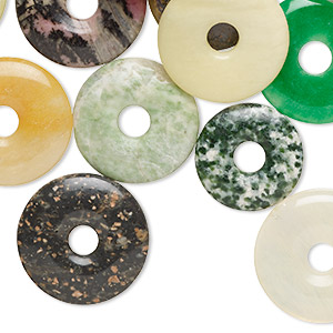 Donuts Grade C Mixed Gemstones