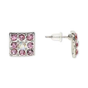 Earstud Earrings Silver Plated/Finished Pinks