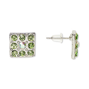 Earstud Earrings Silver Plated/Finished Greens
