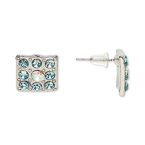Earstud Earrings Silver Plated/Finished Blues